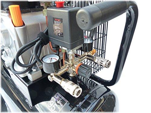 KnappWulf Kompressor Luftkompressor KW3150 mit 50L Druckbehälter 240L/min 230V 10bar - 4