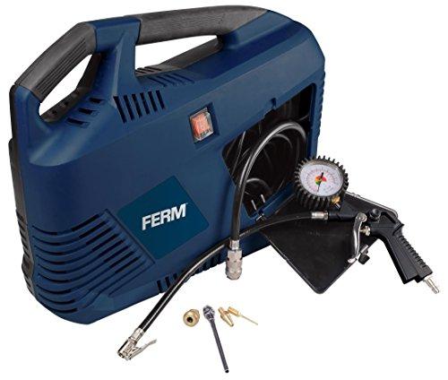 FERM CRM1049 Tragbarer Elektrischer Druckluft Kompressor