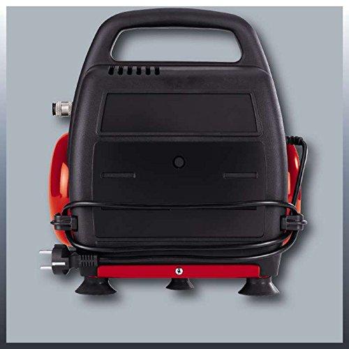 Einhell Kompressor TC-AC 190/6/8 OF (1100 W, 6 L, Ansaugleistung 185 l / min, 8 bar, ölfrei, ergonomische Bauform, Standfüße) - 4