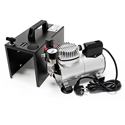 Airbrush Kompressor AF18A kompakt mit Manometer Druckminderer Abschaltautomatik - 4
