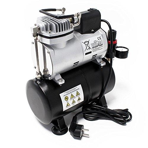Airbrush Kompressor AF186 mit Lufttank Druckminderer 4 bar Start-Stop Automatik - 3