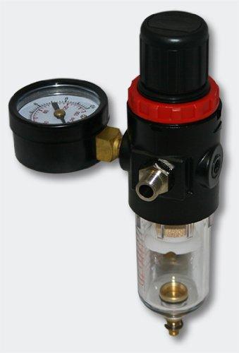 Airbrush Kompressor AF186 mit Lufttank Druckminderer 4 bar Start-Stop Automatik - 5