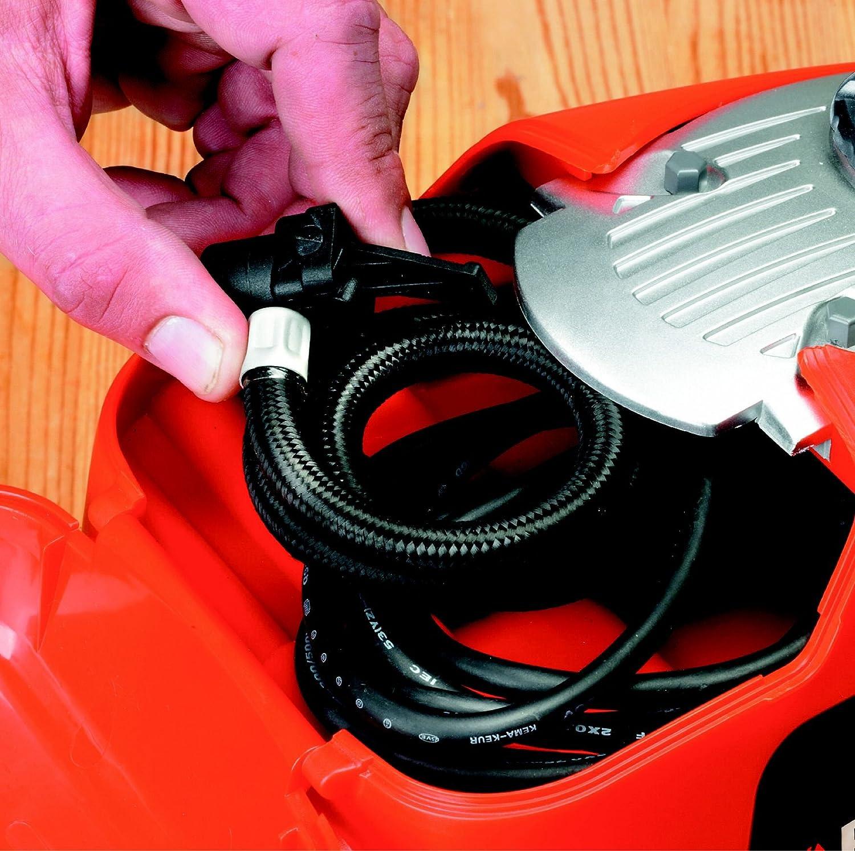 Black+Decker Kompressor, 11 bar / 160PSI, Luftpumpe, digitale Druckeinstellung, Kabelfächer, beleuchtete Skala, inklusive 3 Ventil-Aufsätzen, Einstellring für BAR-Zahl, Automatikabschaltung, ASI300 - 3