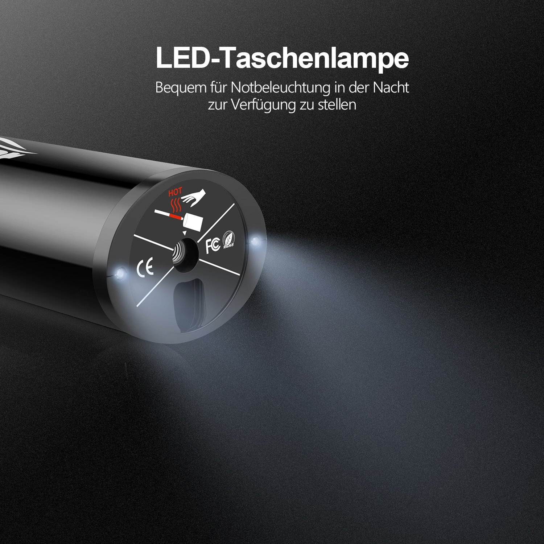 OasserElektrischerKompressorAuto-LuftpumpemitWiederaufladbarerLi-ionen I50PSI 12V Schwarz (Auto-Luftpumpe) - 5