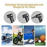 Auto Luftpumpe Kompressor Oasser Elektrische Luftpumpe Digital Portable mit LED Licht LCD Bildschirm inklusiv Akku und Auto-Adapter 12V - 8