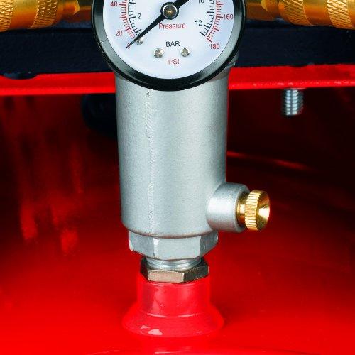 Einhell Kompressor TE-AC 480/100/10 D (3,0 kW, 100 L, Ansaugleistung 480 l / min, 10 bar, ölgeschmiert, Riemenantrieb, große Räder und Haltebügel) - 3