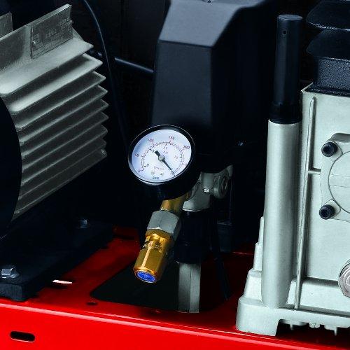 Einhell Kompressor TE-AC 480/100/10 D (3,0 kW, 100 L, Ansaugleistung 480 l / min, 10 bar, ölgeschmiert, Riemenantrieb, große Räder und Haltebügel) - 5