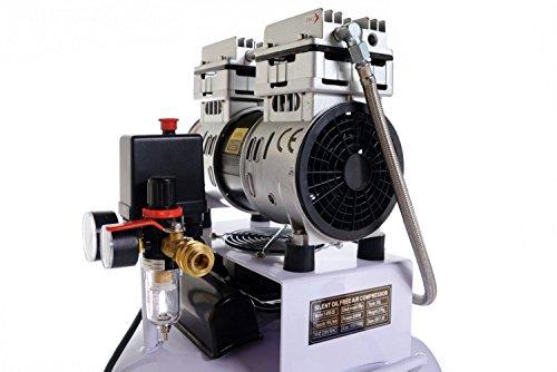 850W Silent Flüsterkompressor Druckluftkompressor nur 55dB leise ölfrei flüster Kompressor Compressor IMPLOTEX - 3