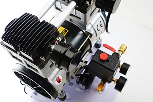 1500W 2PS Silent Flüsterkompressor Druckluftkompressor 60dB leise ölfrei flüster Kompressor Compressor IMPLOTEX - 8