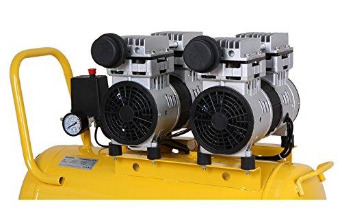 WELDINGER Flüsterkompressor FK 180 Ansaugleistung 120 l/ min 50 Liter Tank Druckluftkompressor ölfrei leise (60 dB) - 3