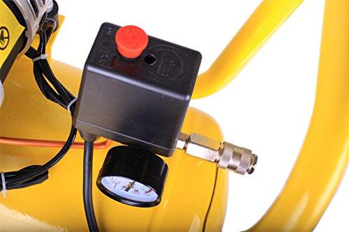 WELDINGER Flüsterkompressor FK 180 Ansaugleistung 120 l/ min 50 Liter Tank Druckluftkompressor ölfrei leise (60 dB) - 4