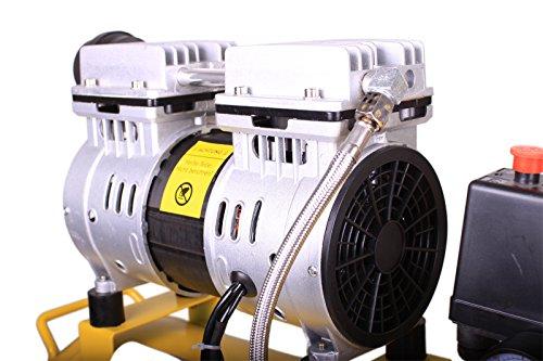 WELDINGER Flüsterkompressor FK 90 Ansaugleistung 90 l/min 25 Liter Tank leiser und ölfreier Druckluftkompressor (60 dB) - 4