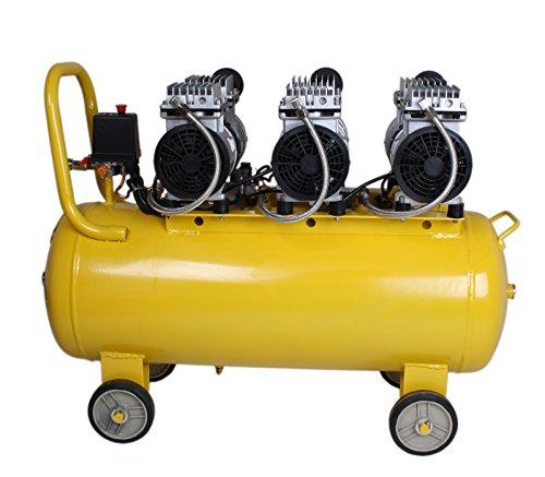 WELDINGER Flüsterkompressor FK 270 Ansaugleistung 270 l/ min 60 Liter Tank Druckluftkompressor ölfrei leise (60 dB) - 5