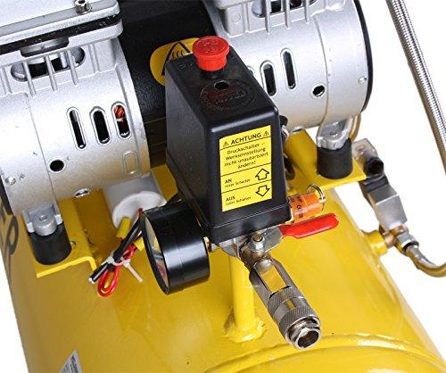 WELDINGER Flüsterkompressor FK 360 Ansaugleistung 360 Liter/ min Tank 90 Liter Druckluftkompressor ölfrei leise (60 dB) - 4