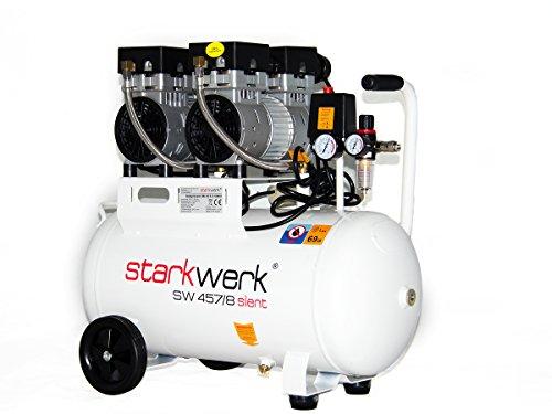 Starkwerk Silent Druckluft Kompressor SW 457/8 Flüsterkompressor