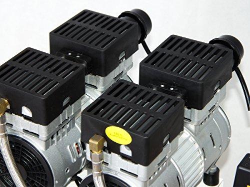 Starkwerk Silent Druckluft Kompressor SW 457/8 Ölfrei 50L Kessel Flüster Kompressor - 4