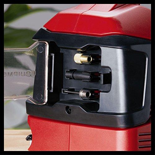Einhell Power X-Change Hybrid-Kompressor Pressito (Lithium Ionen; Hybridfunktion: mit Stromkabel oder Akku; Hochdruck-, Niederdruckpumpe + Niederdrucksaugfunktion; inkl. 3-tlg. Aufblas-Adapter-Set; ohne Akku und Ladegerät) - 4